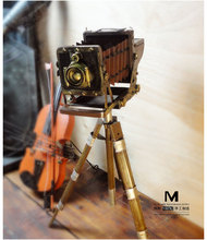Old fashioned camera kodak model photography props background mount handmade iron