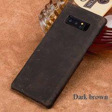 جلد طبيعي الهاتف حقيبة لهاتف سامسونج غالاكسي S8 S8plus S9plus نوت 8 مناسبة للرجال والنساء مكافحة سقوط غطاء للحماية(China)