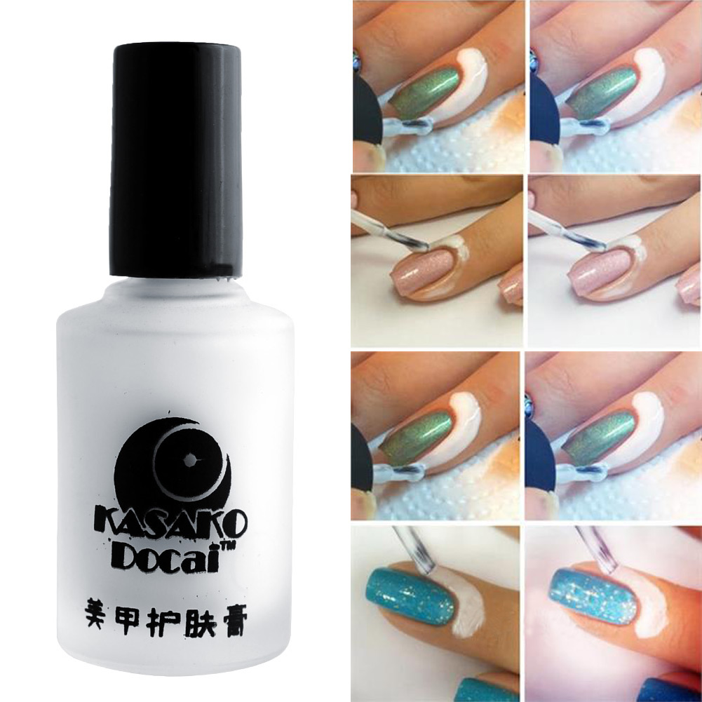 Wholesale Fashion 15ml White Peel Off Liquid Tape Base Cream Nail ...