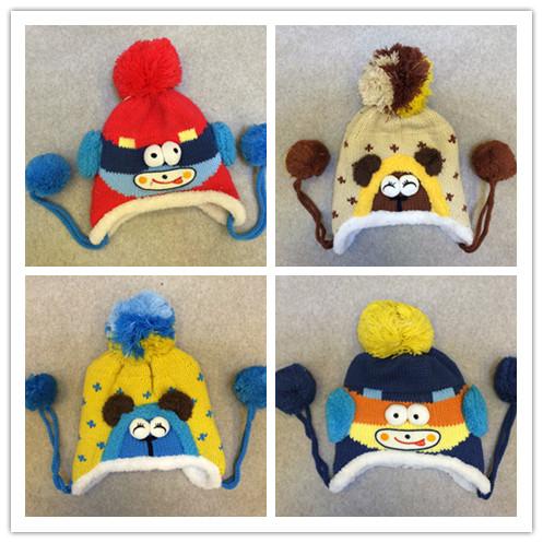 2015 winter Korean version new baby hat cute little bear newborn hat baby colorful baby winter hat baby hedging cap(China (Mainland))