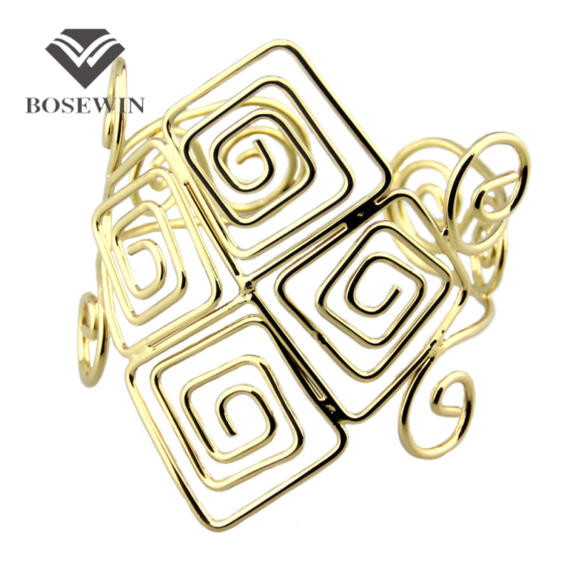 2014 New Gothic Design Statement Jewelry Fashion Gold Alloy Armlet  Opened  Arm Bangles For Women Party Dress BL171<br><br>Aliexpress