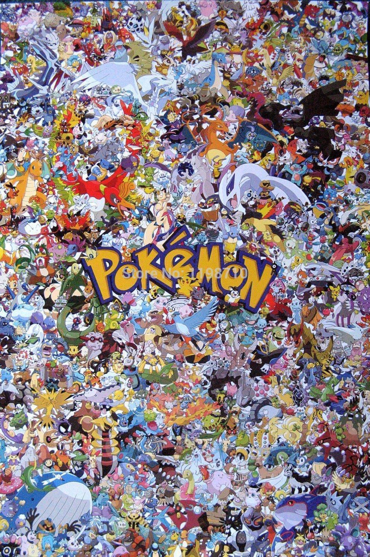 Vente en gros pokemon mur papier d 39 excellente qualit de - Poster pokemon a imprimer ...