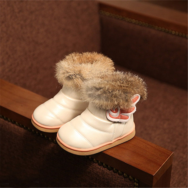 Гаджет  New style Autumn Winter for children/kid/girl boots solid color outdoor shoe Bow-Tie flat shoes nubuck leather short boots None Детские товары