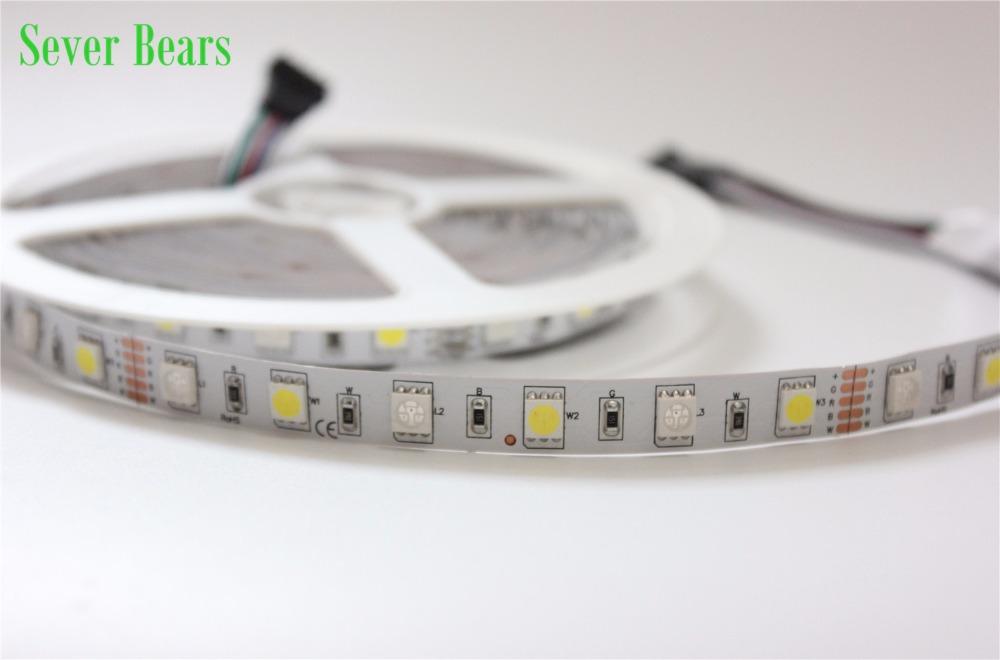 IP20 LED Strip SMD 5050 RGBW 12V flexible light RGB+White / Warm White colorful strip lighting,5m 300LEDs 60Leds/m,5m/lot(China (Mainland))