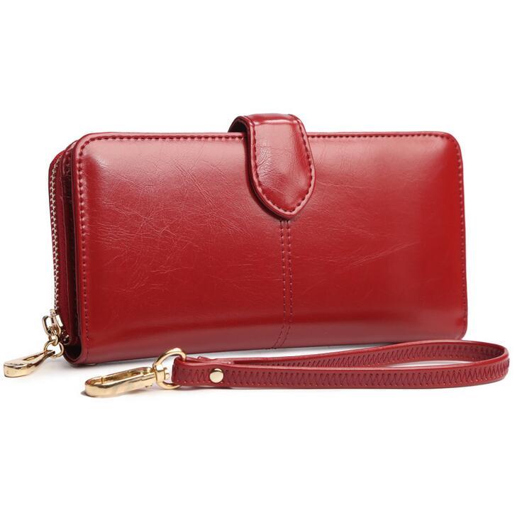 Roomy Wallet for Women Purse Genuine PU Leather Women Wallets Large Zipper Long Wallet Women Phone Pouch Wrislet Purses 6N02-18<br><br>Aliexpress