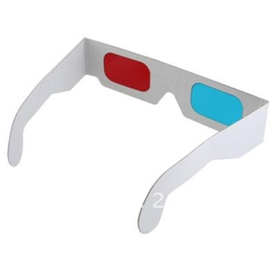 100pcs/lot 3D paper Glasses Red Blue Stereo Glasses Dimensional Anaglyph Glasses(China (Mainland))