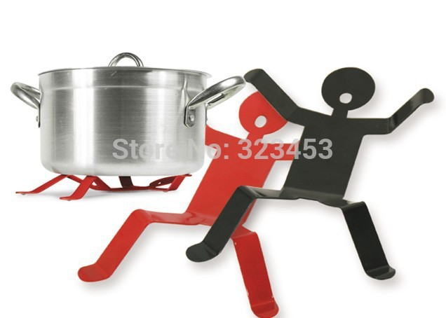 Kitchens Rack Kitchen accessories 1Piece Small Boy Pot Holder Metal iron Insulated pad Mat