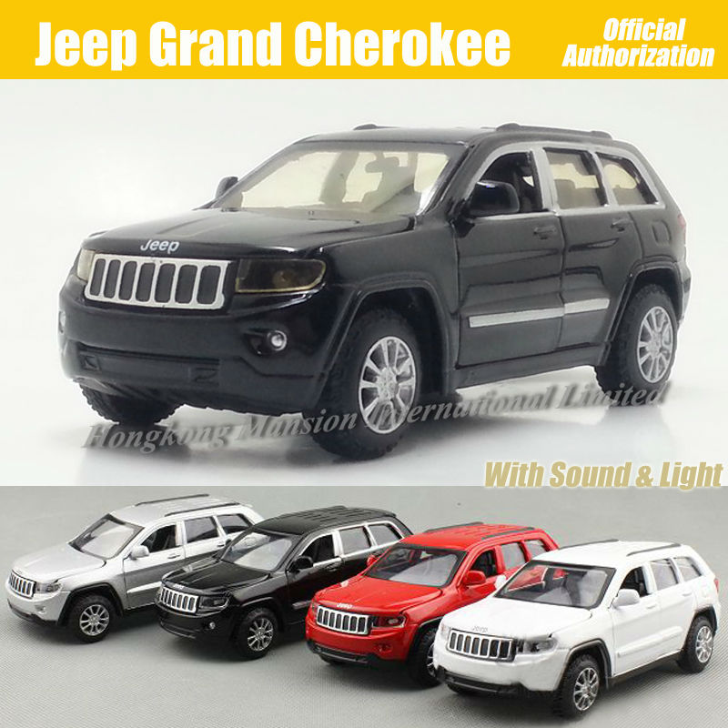 1:32 Scale Diecast Alloy Metal Car Model For Jeep Grand Cherokee Collection Model Pull Back Toys Car With Sound&Light(China (Mainland))