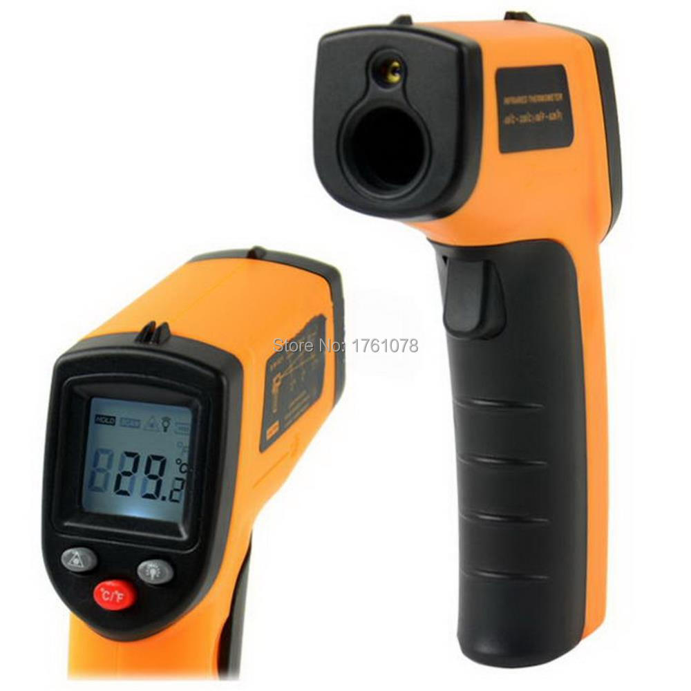1Pc GM320 Non-Contact Laser LCD Display Digital IR Infrared Thermometer Temperature Meter Gun Point -50~330 Degree Free Shipping(China (Mainland))