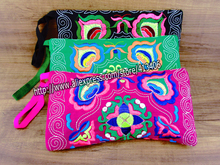 3 pc set of Vintage Hmong Thai Indian Ethnic cosmetic Hobo Hippie makeup holder wallet bag
