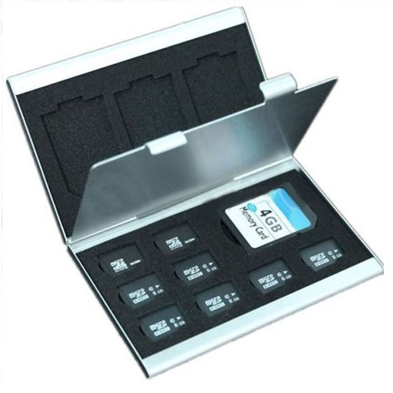 New Metal Aluminum Micro SD TF MMC Memory Card Storage Box Protecter Case Holder(China (Mainland))