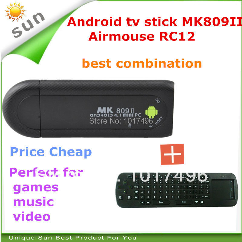 tv box stick mk809 iii tronsmart mk908ii rc12 hdmi dongle android tv stick with airmouse for games video music free shipping(China (Mainland))