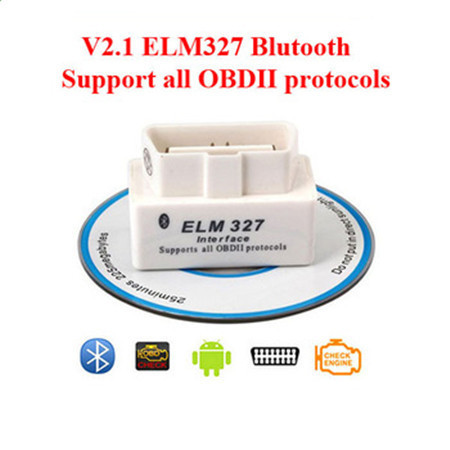 MINI ELM327 Bluetooth OBD2 V2.1 White Smart Car Diagnostic Interface ELM 327 Wireless Scan Tool(China (Mainland))