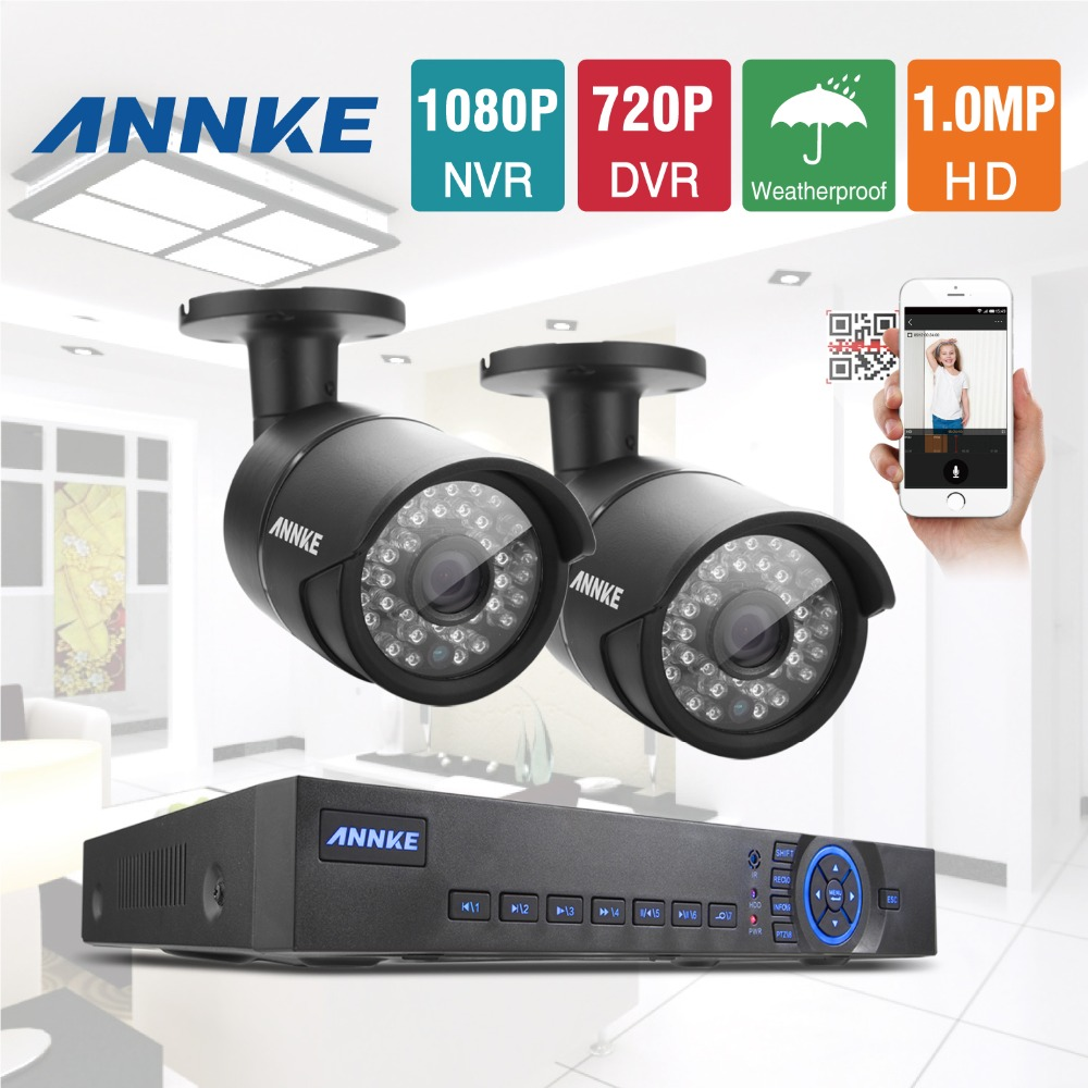 ANNKE 4CH AHD 720P HD DVR HDMI Outdoor CCTV Security Camera System Home Surveillance Video Recorder Kits(China (Mainland))