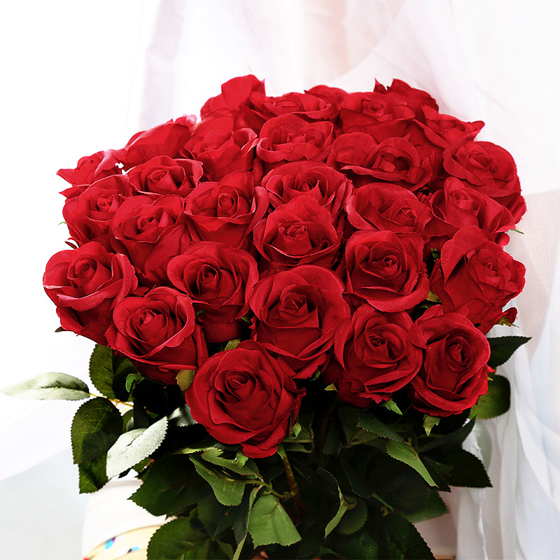 artificial simulation fake silk red rose flowers for valentine day, Ideas