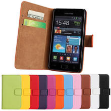 Buy New Genuine Leather Case Wallet Cover Magnetic Buckle Luxury Full Card Flip Card Case Protector Samsung Galaxy S2 i9100 for $3.78 in AliExpress store