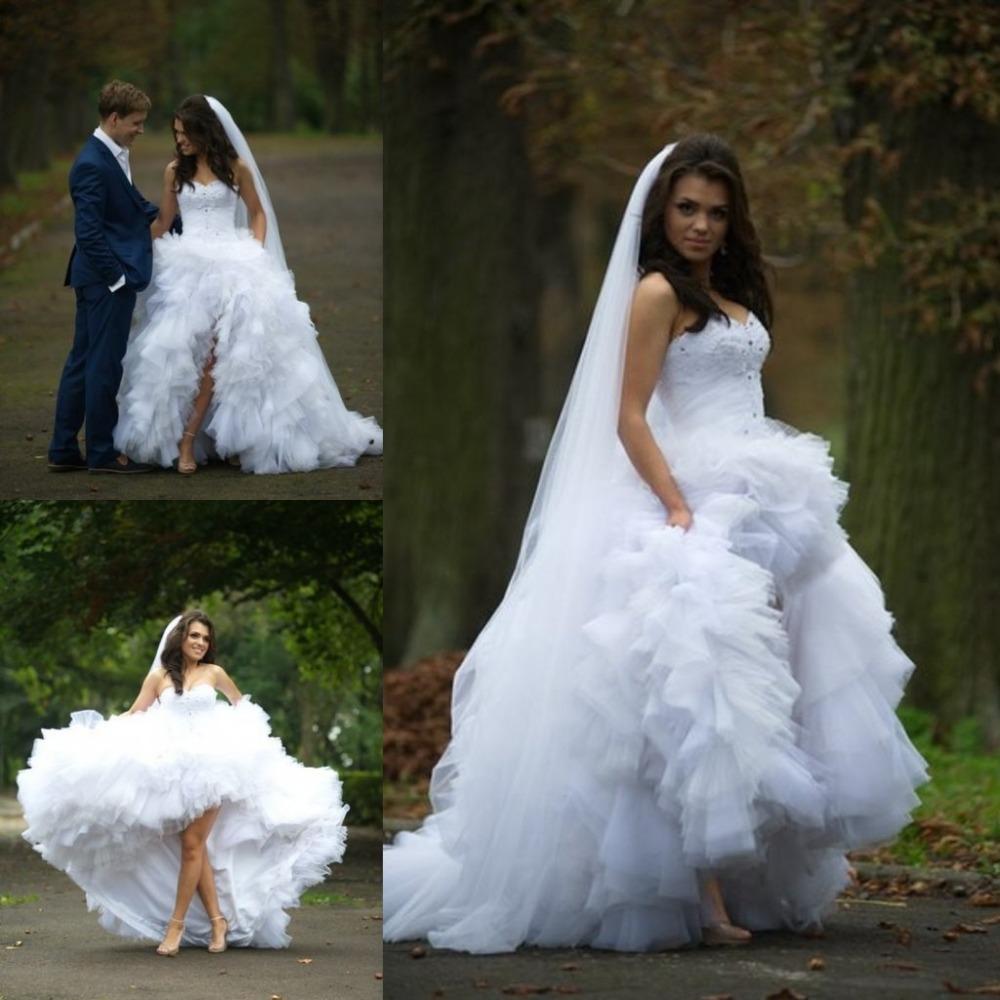 Wedding Gowns Hi Low Wedding Dresses Asian