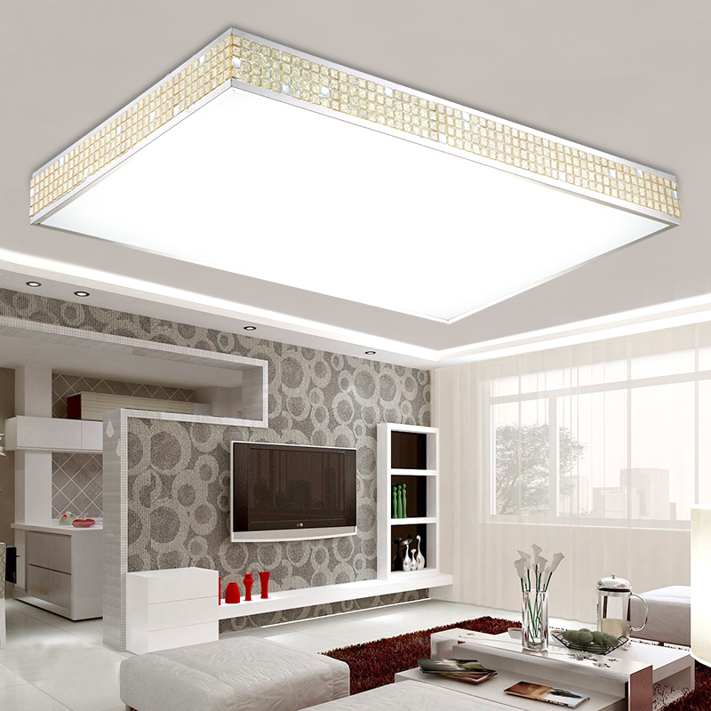 Crystal Light Modern Minimalist Rectangular Living Room