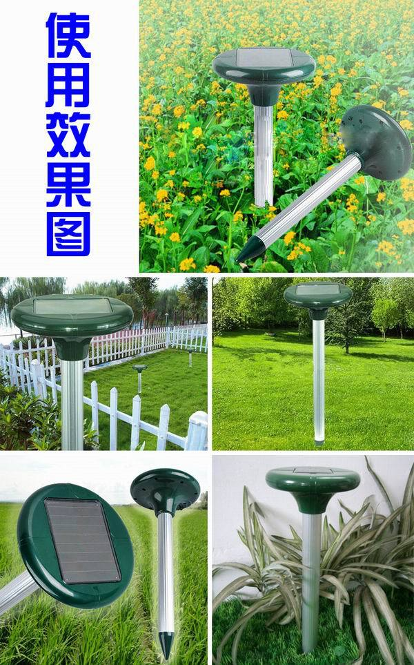 Wholesale - Free Shipping 2014 New 5 Pieces/Lot Solar Powered Ultrasonic Rodent Mouse Rat Pest Repeller Solar Mouse Repeller(China (Mainland))