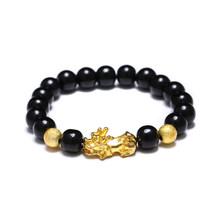 チベット仏教 6 ワードのマントラビーズ勇敢な兵士ブレスレットメンズ/女性幸運お守り Om mani パドメ hum 宝石類のギフト(China)
