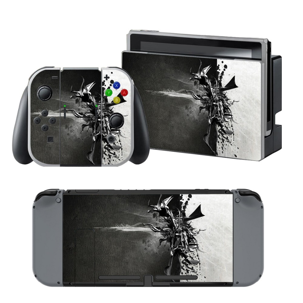 Newly Arrival Vinyl Skin Sticker for Nintendo Switch Console Protector Cover Decal Vinyl Skin for Skins Stickers 0214