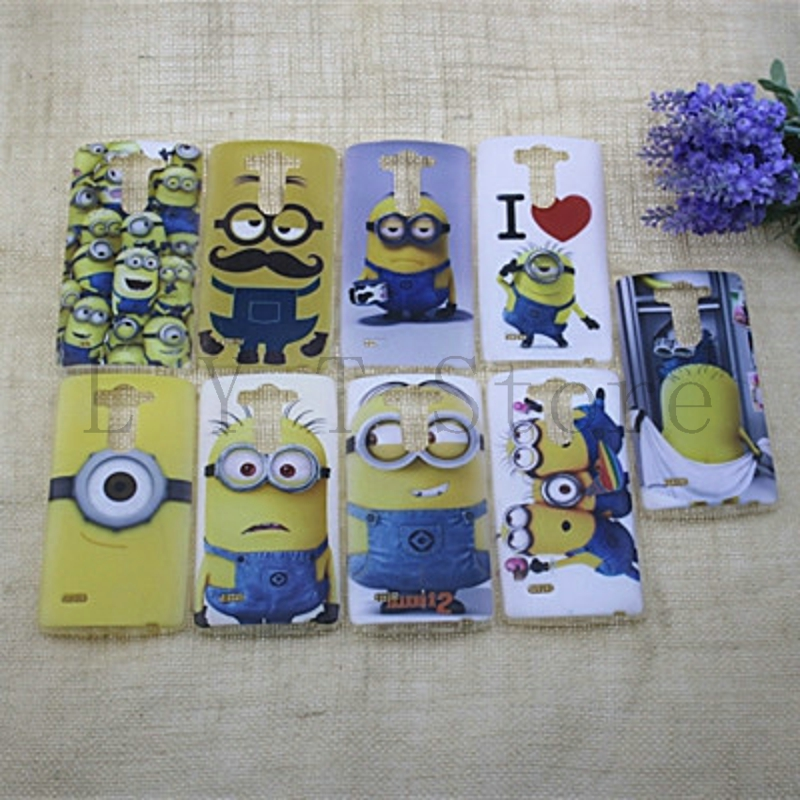 2015 New cute Popular Soft TPU Cases For LG G3 Mini Cartoon Despicable Me Minion Mobile Phone Case Cover Shell(China (Mainland))