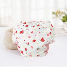 Bebé algodón entrenamiento Pantalones Bebé pañales reutilizables pañales de tela pañales lavables infantes niños ropa interior pañal cambiante(China)