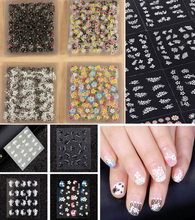 50 Sheets 3D Nail Art Stickers Tips Decal Fashion Flower Tip Decoration Sticks Nail Art Manicure Accessories
