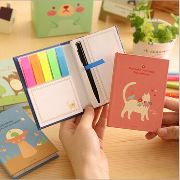 4pcs/lot New cute cat bird series Notebook / korea style hand cover Note pad Memo with pen<br><br>Aliexpress