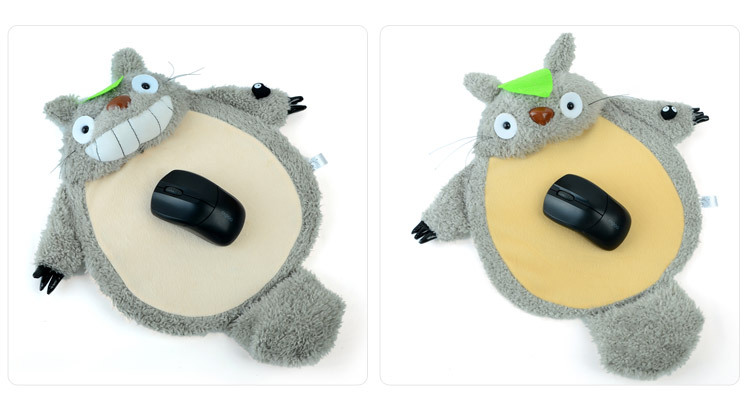 Lovely TOTORO large wrist support optical mouse pad/gel comfort wrist mice pad, cute totoro plush computer mouse pad,kids gift(China (Mainland))