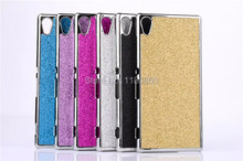 Plastic Plating Bling Shiny Glitter Hard case Cover For Sony Xperia M4 Aqua Dual E2303 E2333 E2353 cases ,  Mobile Phone Cases