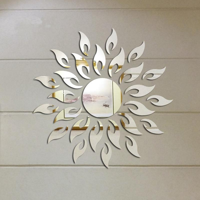achetez en gros soleil miroir mural en ligne des grossistes soleil miroir mural chinois. Black Bedroom Furniture Sets. Home Design Ideas