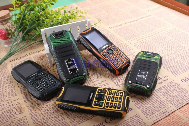 Cheapest ultrathin Outdoor original cellphone ip67 rugged Waterproof Dustproof shockproof mobile phone Hummer H2 Russian(China (Mainland))
