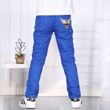2016 new spring children's clothing fashion embroidery children's casual trousers boys high quality pants