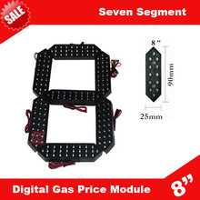 High Brightness LED Gas Price Sign 7-Segment LED Digital Display Module 8Inches(China (Mainland))