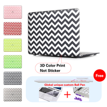 White stripes Black Laptop Computer Bag For Apple Mac Macbook Pro 15 Case Cover Macbook Pro 13 15 Inch With Retina Display A1502