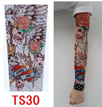 2015 fashion men's Tattoo sleeve gloves women's outdoor summer sunscreen viscose gloves lover's riding gloves tattoo gloves(China (Mainland))