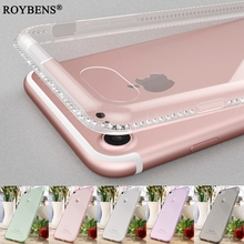 Buy iPhone 7 Case Diamond Ultra Slim Clear TPU Soft Case iPhone 7 7Plus Luxury Cover Bling Rugged Rhinestone Silicone Cases for $1.59 in AliExpress store