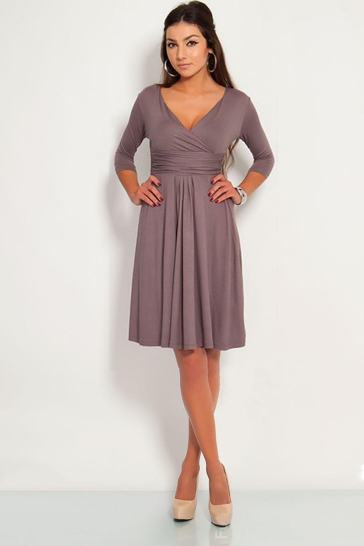 Платья облегающее с v-образным вырезом свободного покроя три четверти осень, рукав длиной до колен женщины весна вечернее коктейльный