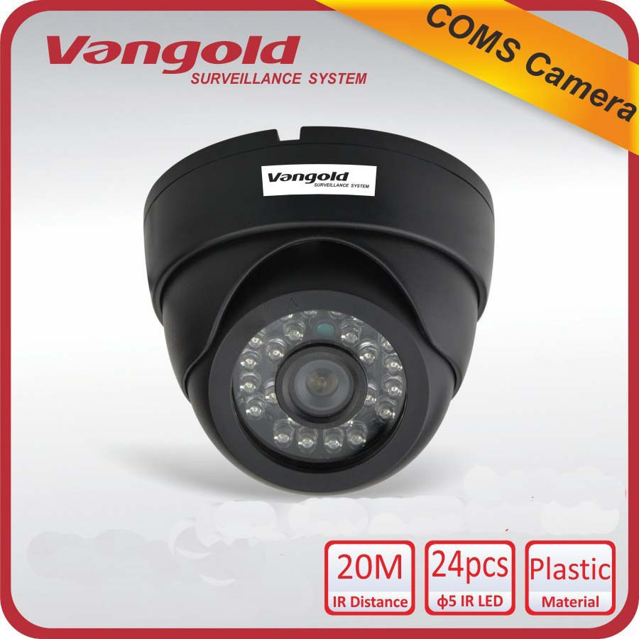 "Promotion 1/4"" CMOS Sensor 800TVL CCTV Camera With IR-CUT Night Vision Dome Indoor video surveillance Security Free Shipping(China (Mainland))"