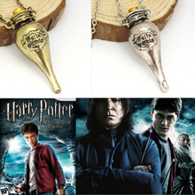 The Harry Potter Felix Felicis Potion Bottle Pendant Necklace Movie Jewelry Gifts  Statement Necklaces Cheap FashionJewelry