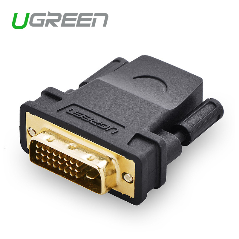 Ugreen HDMI to DVI 24+1 Adapter Female to Male 1080P HDTV Converter for PC PS3 Projector TV Box(China (Mainland))