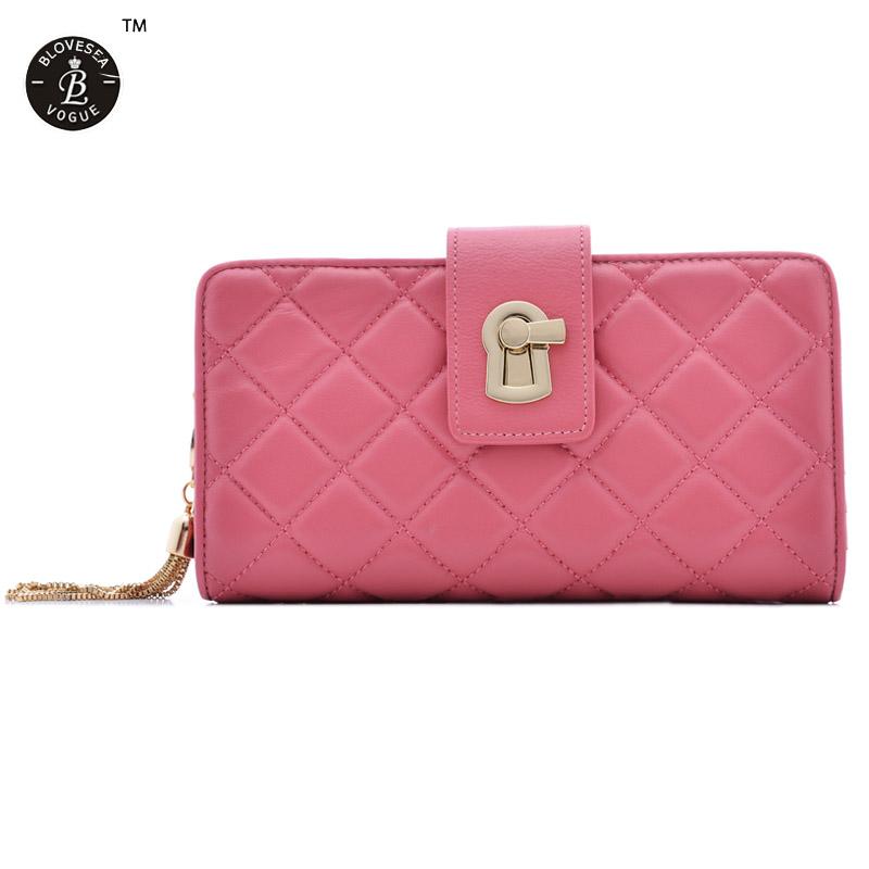 High Quality Sheepskin Soft Dazzling Diamonds Ladies Wallets Winter Long Purse Bags Mobile Pounch Bag Black Rose Pink Blue<br><br>Aliexpress