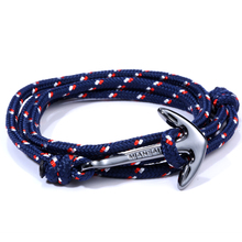 Men Bracelets Miansai bracelets Gun black anchor hand-rope lovers handmade Nylon rope bracelet Anchor Bracelets(China (Mainland))