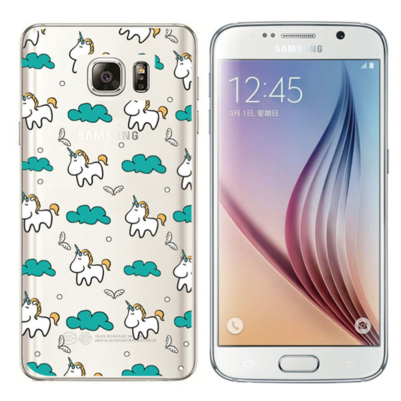Note 5 Case Luxury Clear View Mirror Case Unicorn Butterfly Heart Patiend Smart Phone Case Funda
