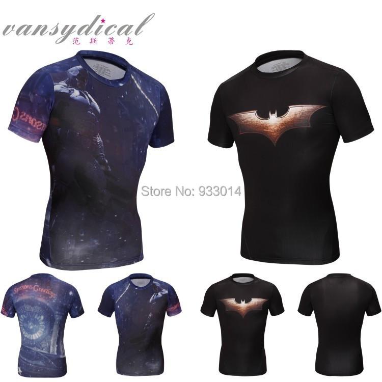 Short Sleeve compressed t-shirt hot superman/batman t shirt men sports quick dry fitness clothing Captain America Wolverine - Fitness Sport T-Shirt ST 1 store