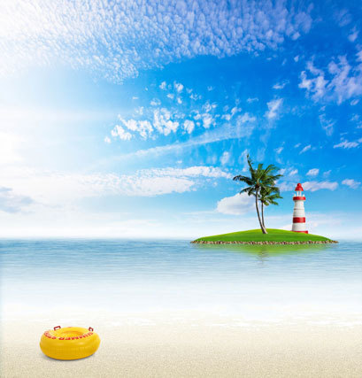 5X7ft Small island vinyl backdrop photo studio background gap children new 2014 cloth photography wallpaper fotografia curtains(China (Mainland))