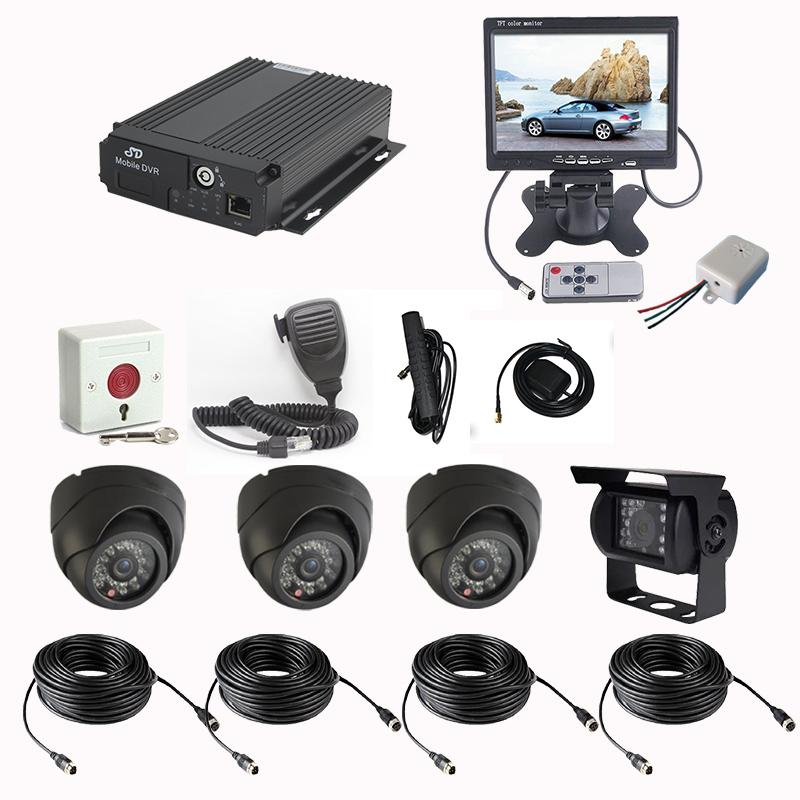 CCTV 3G Vehicle Surveillance 4CH Video 2CH Audio 6CH Alarm Input H.264 CIF/HD1/D1 3G Mobile DVR GPS LED Ad And PTZ Control(China (Mainland))