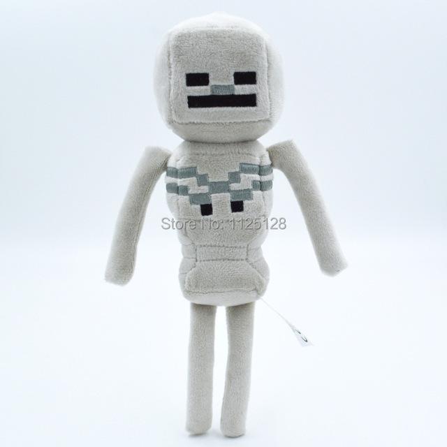Minecraft плюшевые игрушки 24 см 1 шт. высокое качество классические игрушки скелета куклы рождественский подарок бесплатная доставка