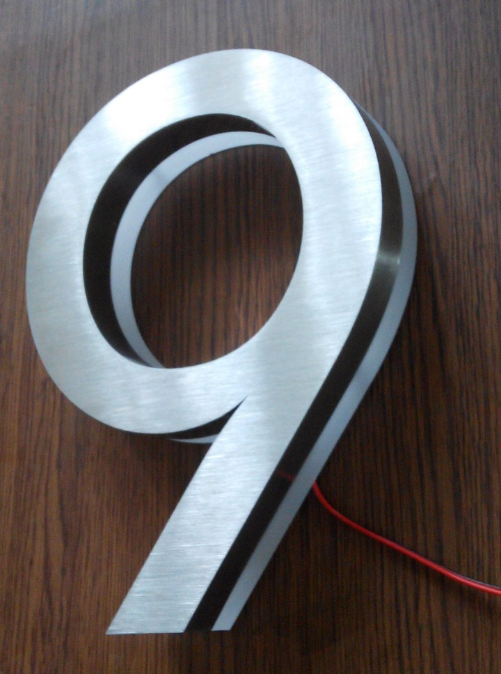 modern led house number 9 apartment led numbers and company name size